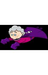 Gift Card Granny flying