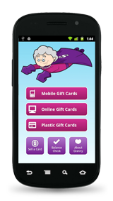 Gift Card Granny Android App Home Screen